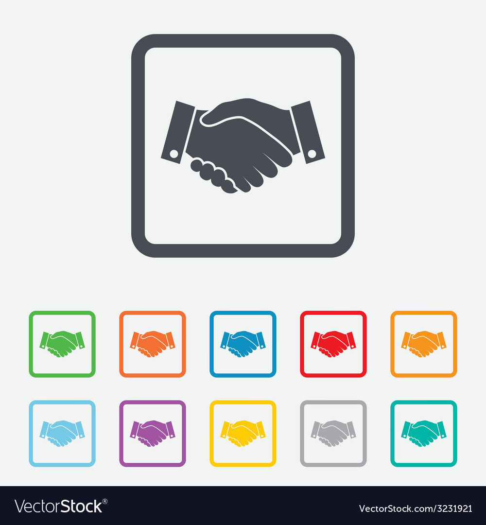 Handshake sign icon successful business symbol vector   Price: 1 Credit (USD $1)