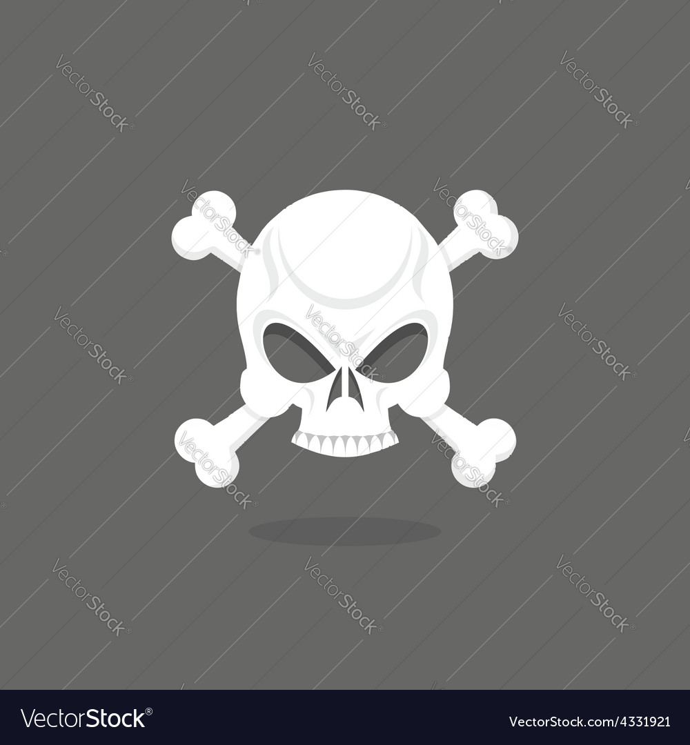 Jolly roger skull and bones pirate flag vector | Price: 1 Credit (USD $1)