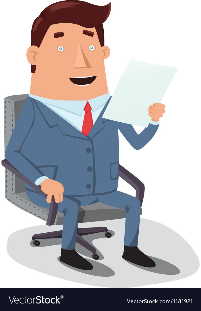 Man reading document vector | Price: 3 Credit (USD $3)