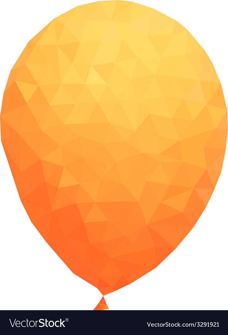 Polygonal orange balloon vector | Price: 1 Credit (USD $1)