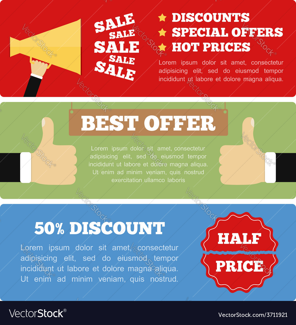Promotion banners vector | Price: 1 Credit (USD $1)