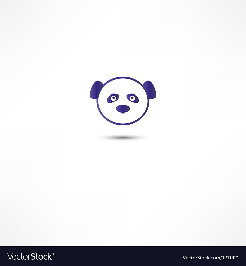 Sad panda vector | Price: 1 Credit (USD $1)