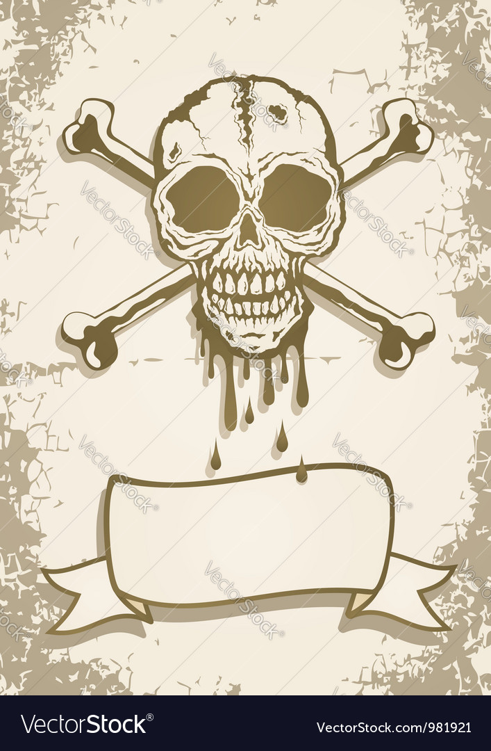 Skull scroll vector | Price: 1 Credit (USD $1)
