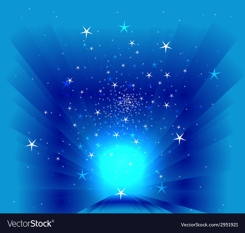Stars on blur background vector
