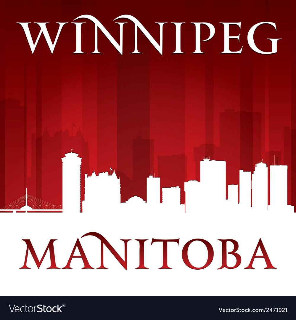 Winnipeg manitoba canada city skyline silhouette vector | Price: 1 Credit (USD $1)
