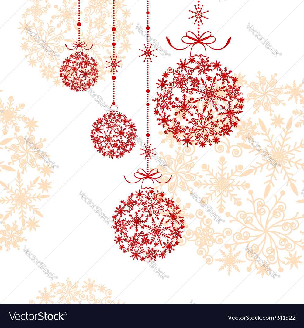 Abstract christmas ornament vector | Price: 1 Credit (USD $1)