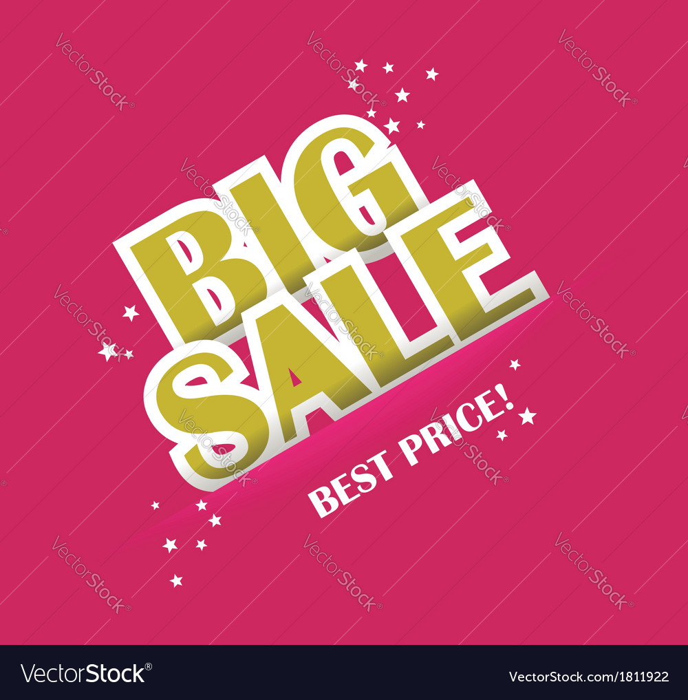 Big sale text with copy space vector | Price: 1 Credit (USD $1)