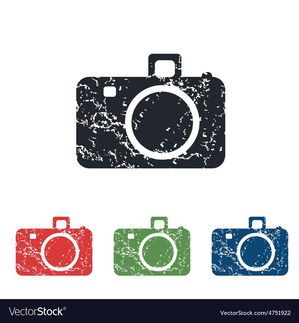 Camera grunge icon set vector | Price: 1 Credit (USD $1)