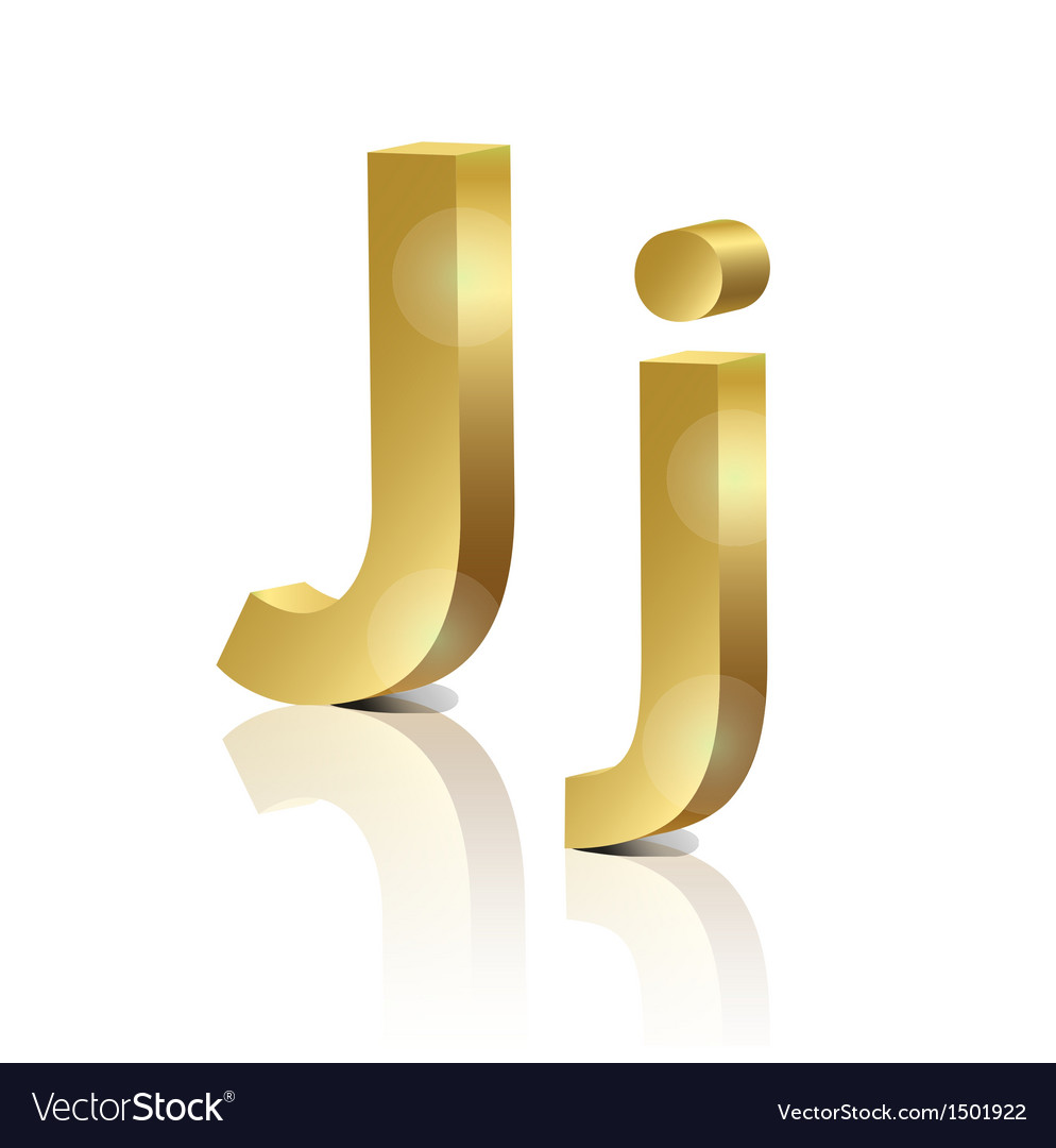 Golden letter j vector | Price: 1 Credit (USD $1)
