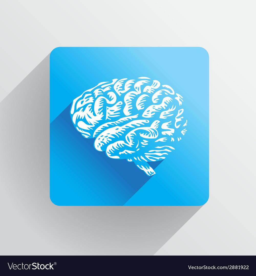Human brain icon vector | Price: 1 Credit (USD $1)