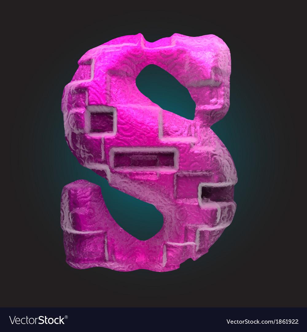Pink plastic figure s vector | Price: 1 Credit (USD $1)