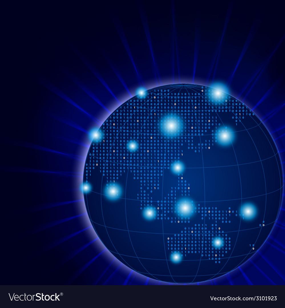 Asia and australia pixel aglobe vector | Price: 1 Credit (USD $1)
