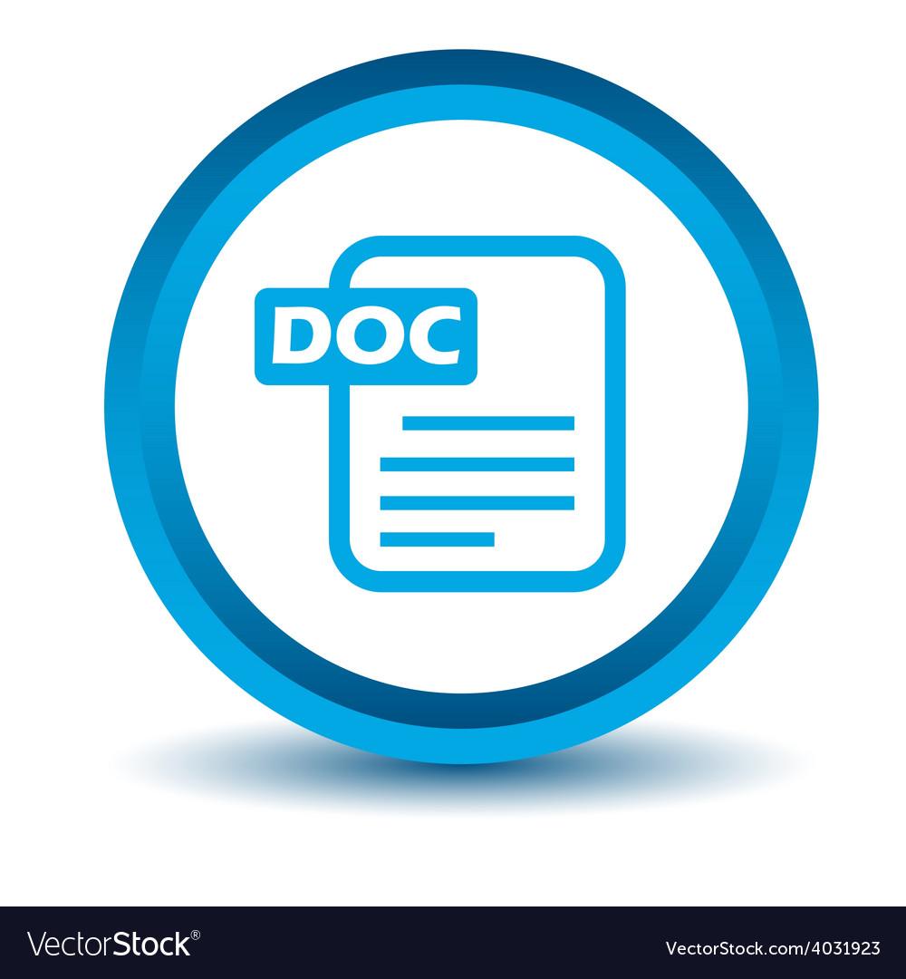 Blue doc icon vector | Price: 1 Credit (USD $1)