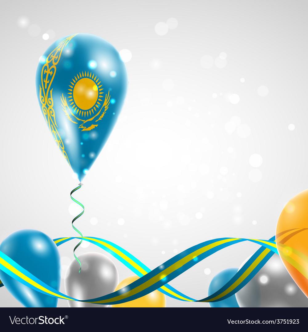 Flag of kazakhstan on balloon vector | Price: 1 Credit (USD $1)