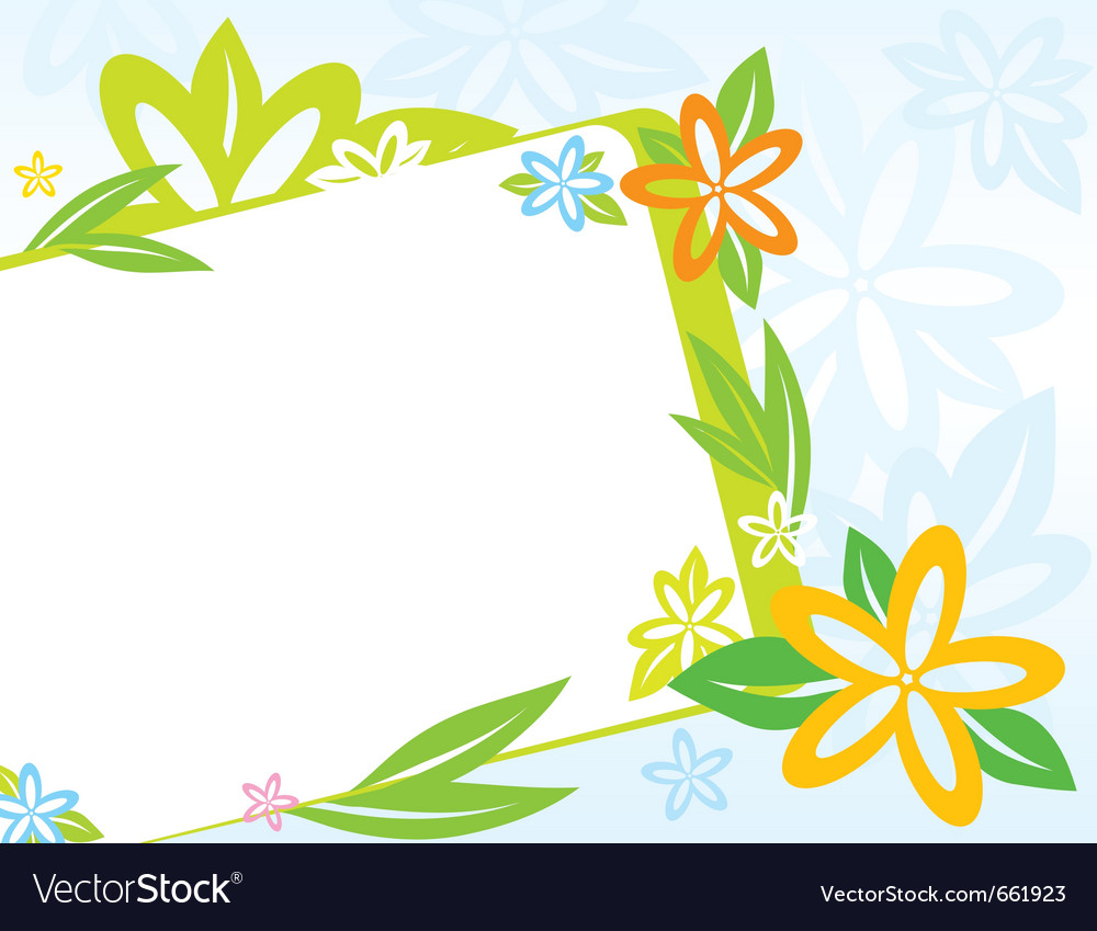 Frame with spring flowers vector | Price: 1 Credit (USD $1)