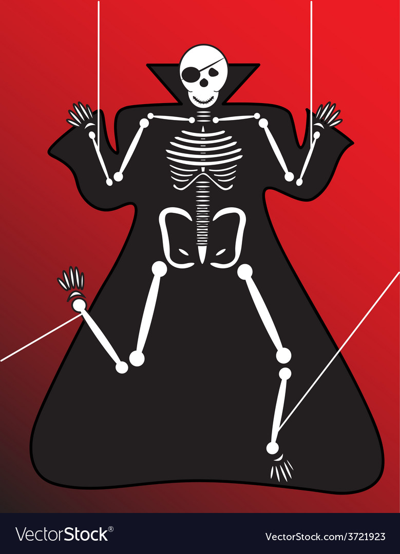 Human skeleton halloween vector | Price: 1 Credit (USD $1)