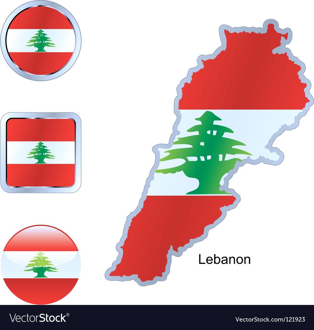 Lebanon vector | Price: 1 Credit (USD $1)