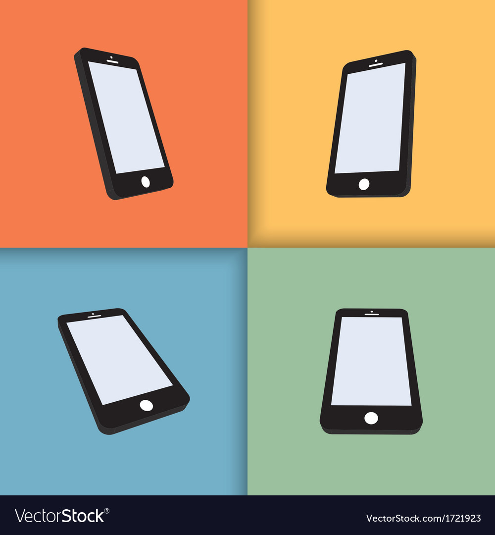 Mobile phones vector | Price: 1 Credit (USD $1)