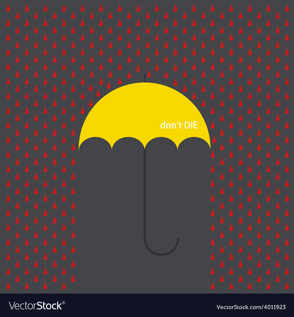 Modern umbrella with drops vector | Price: 1 Credit (USD $1)