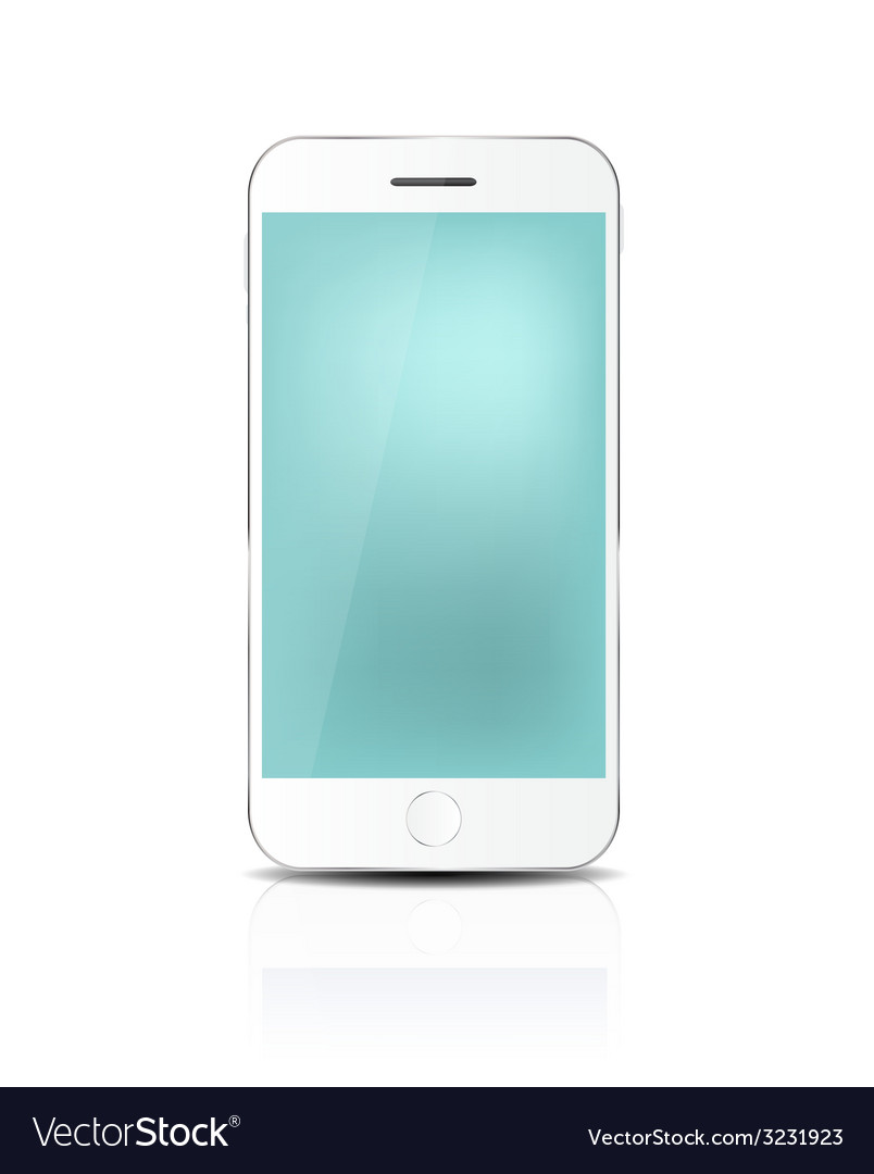 New realistic mobile phone with blue screen vector   Price: 1 Credit (USD $1)