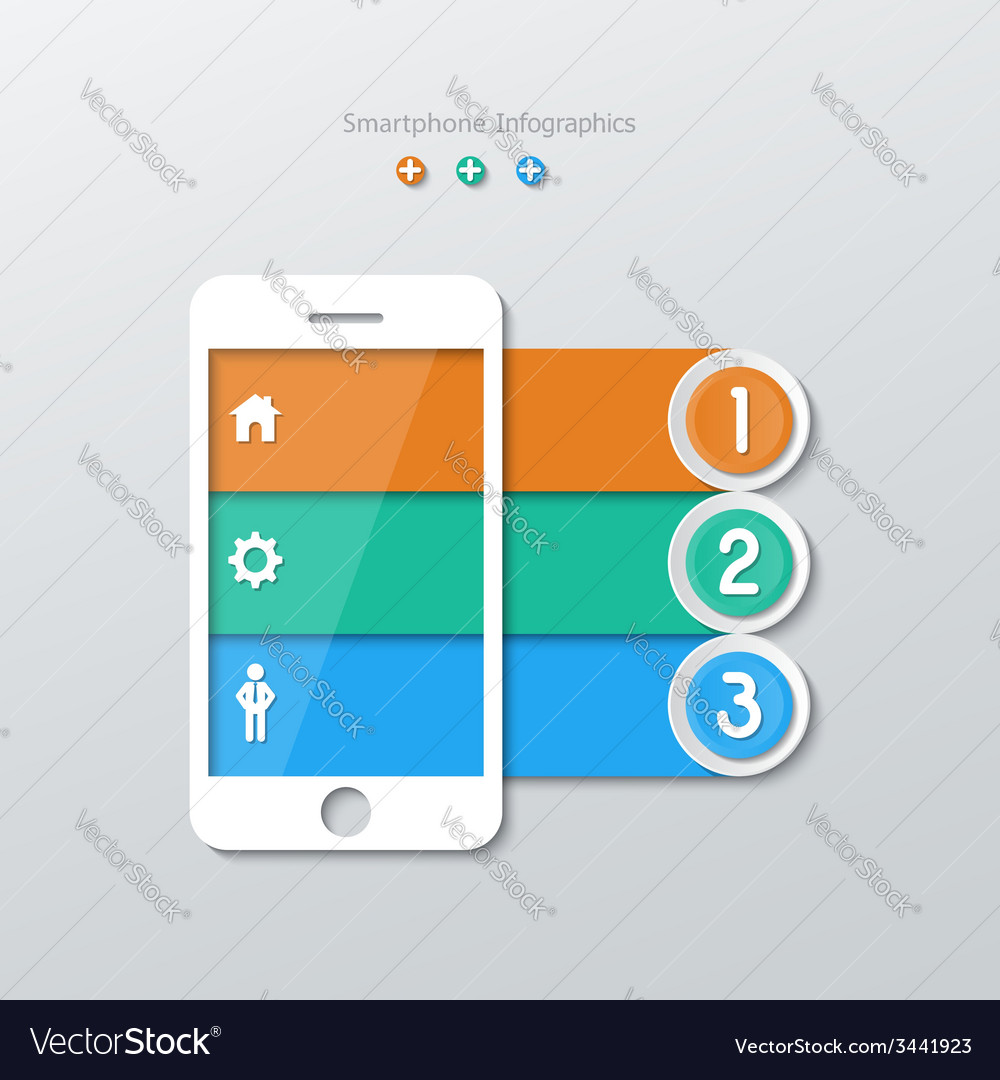 Paper smartphone infographics vector | Price: 1 Credit (USD $1)