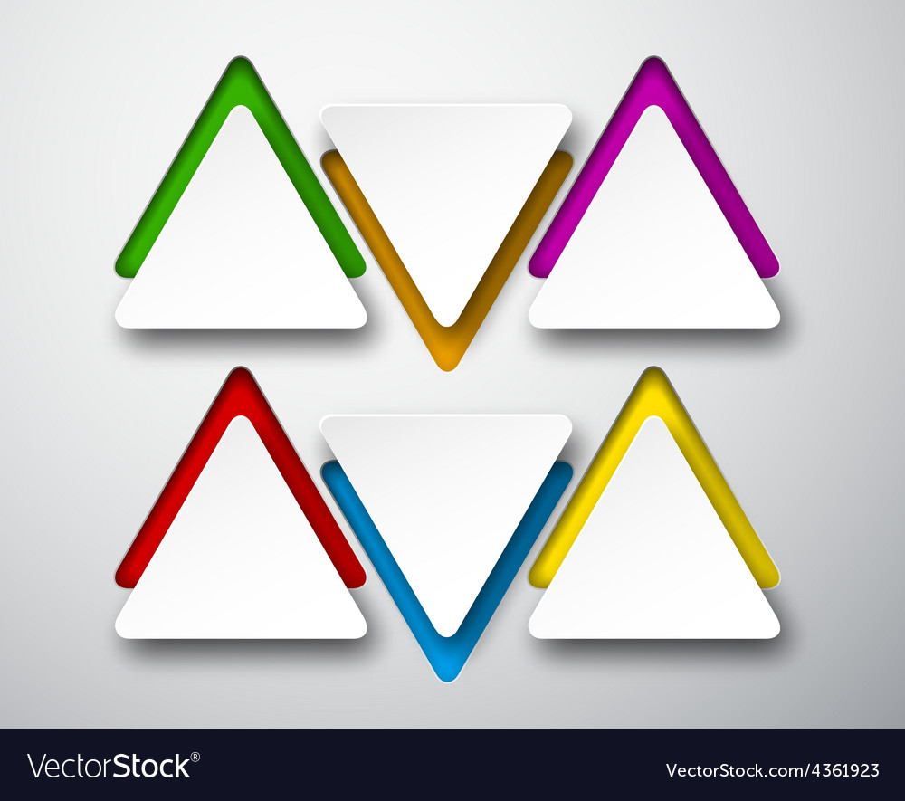 Paper white triangular notes vector | Price: 1 Credit (USD $1)