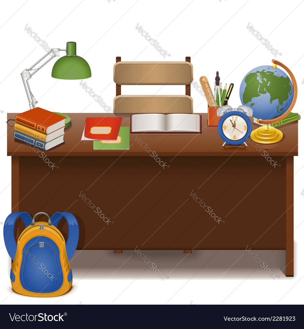 Pupil table vector | Price: 3 Credit (USD $3)