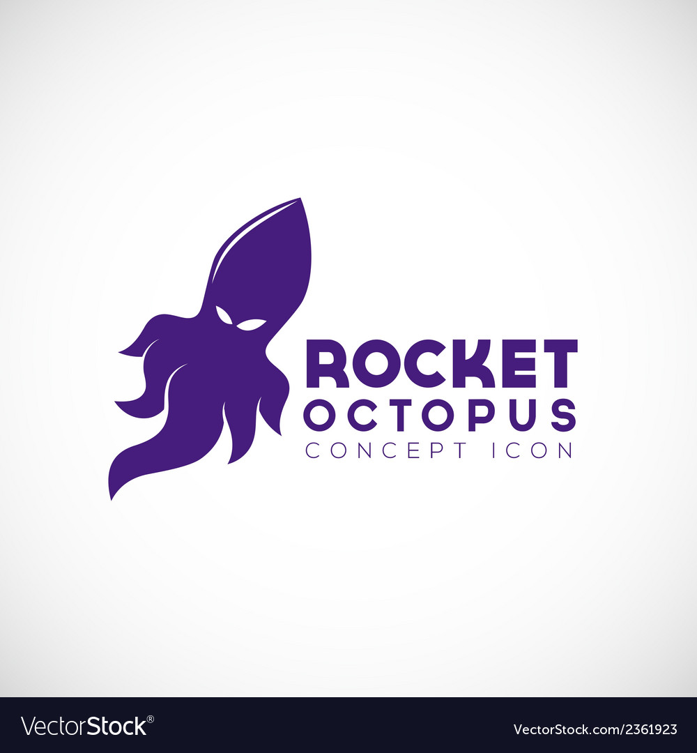 Rocket octopus abstract concept icon vector | Price: 1 Credit (USD $1)