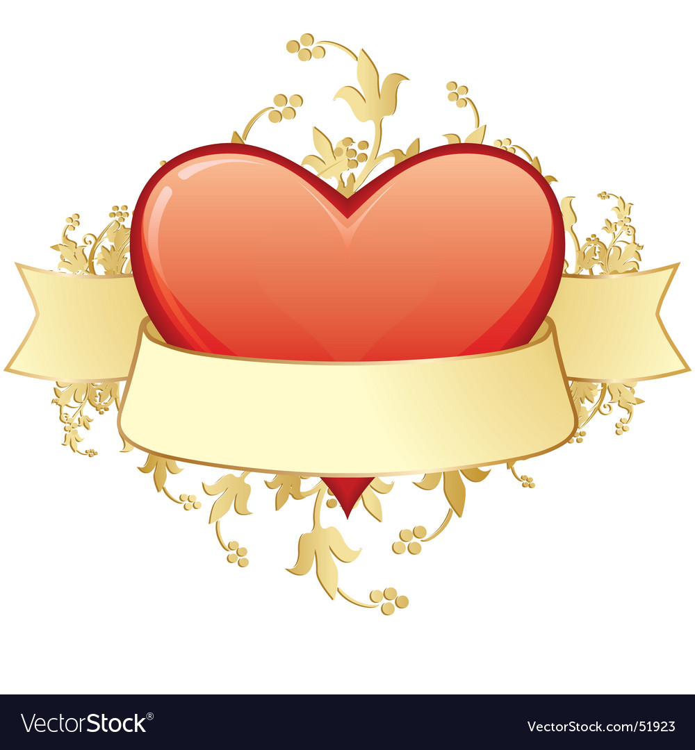 Valentine label floral vector | Price: 1 Credit (USD $1)