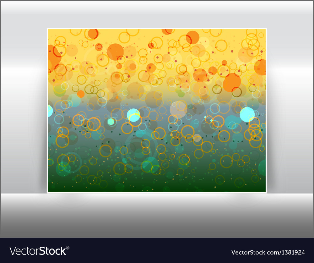 Abstract circles like bokeh effect vector | Price: 1 Credit (USD $1)