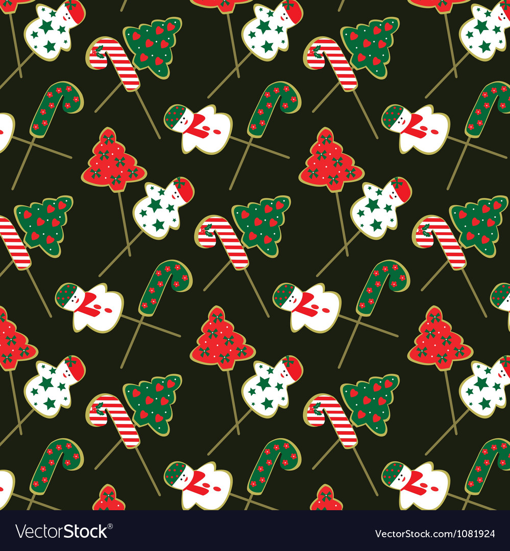 Christmas-cookie-pattern vector | Price: 1 Credit (USD $1)