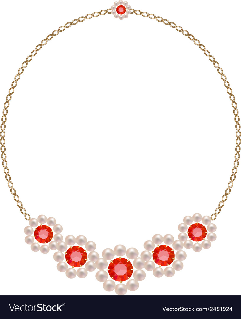 Necklace vector | Price: 1 Credit (USD $1)
