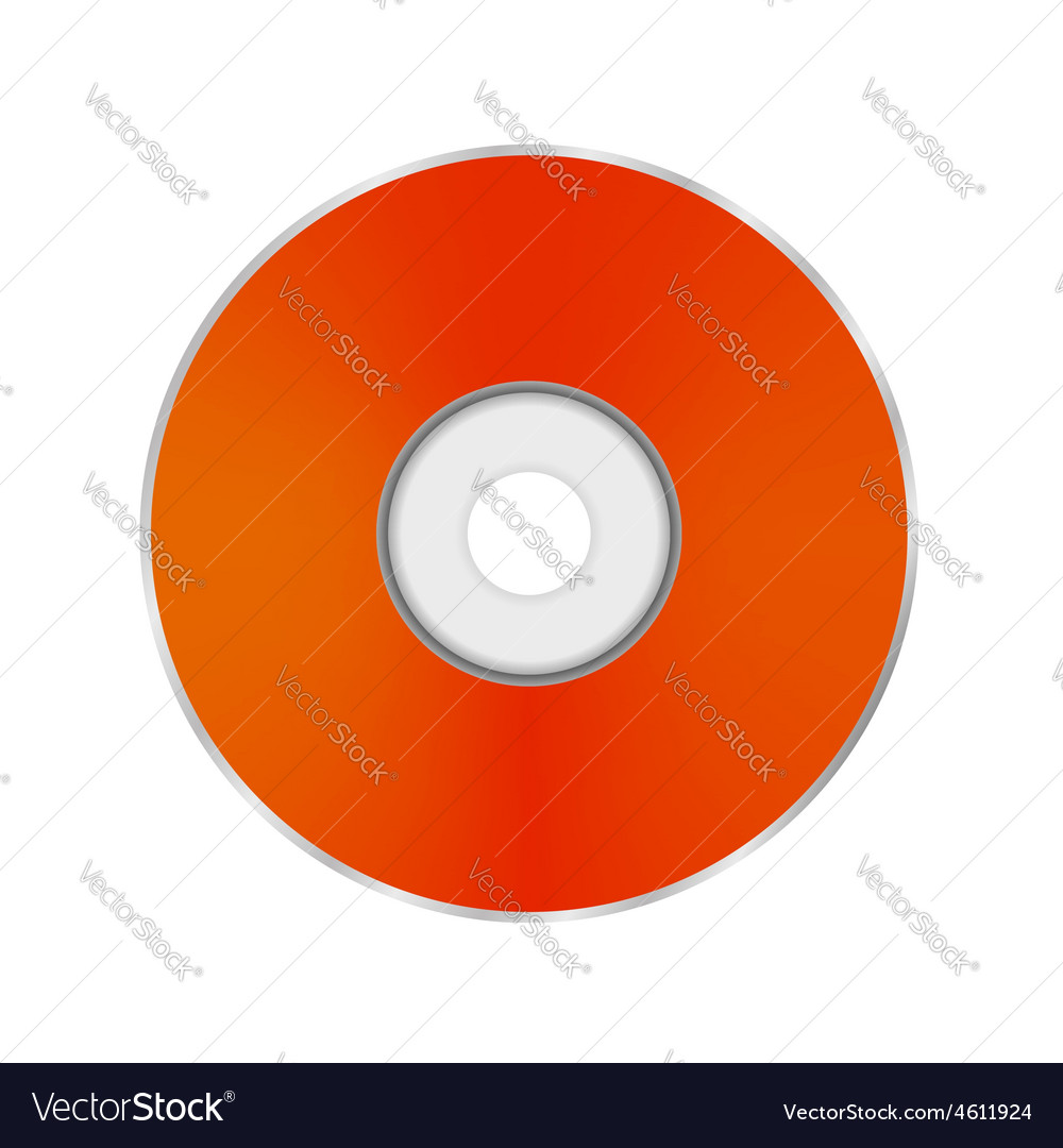 Orange compact disc vector | Price: 1 Credit (USD $1)