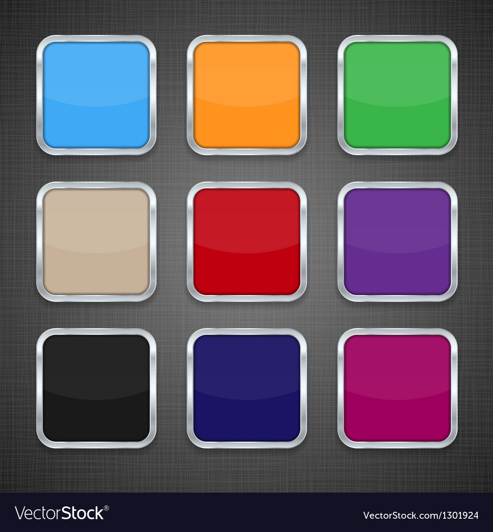 Set of colorful app icon templates buttons vector | Price: 1 Credit (USD $1)