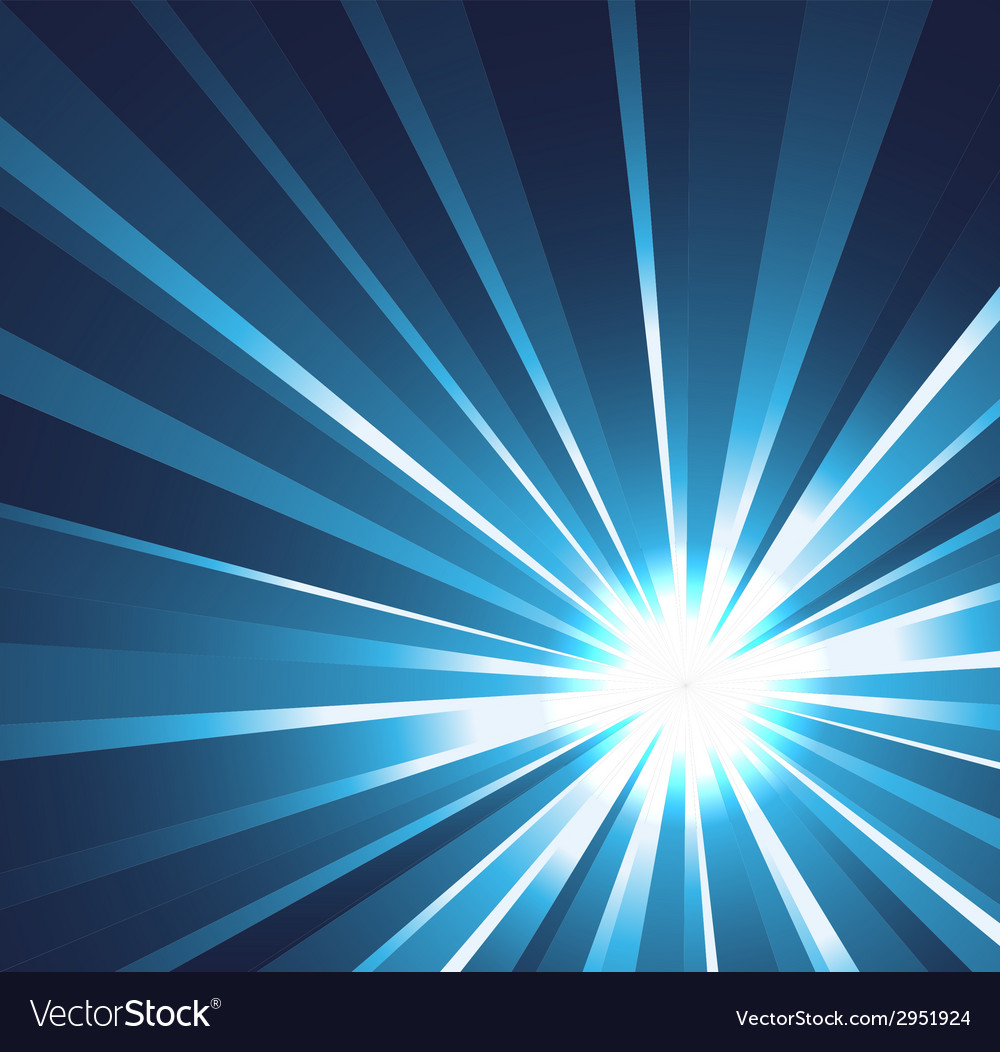 Star burst background in blue vector | Price: 1 Credit (USD $1)