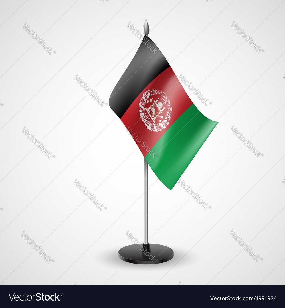 Table flag of afghanistan vector   Price: 1 Credit (USD $1)