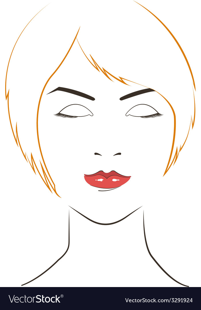 Women face with yellow hair vector | Price: 1 Credit (USD $1)