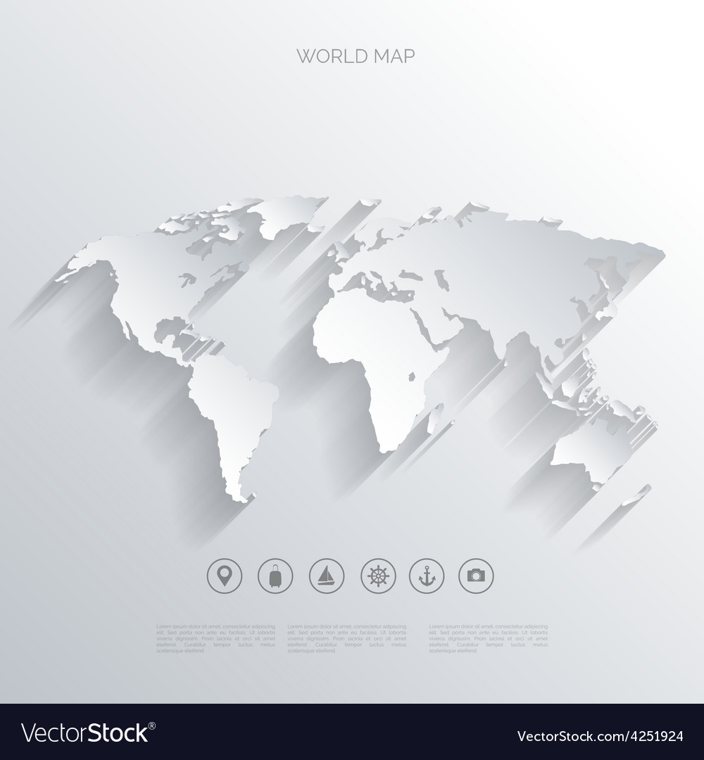 World map concept vector | Price: 1 Credit (USD $1)
