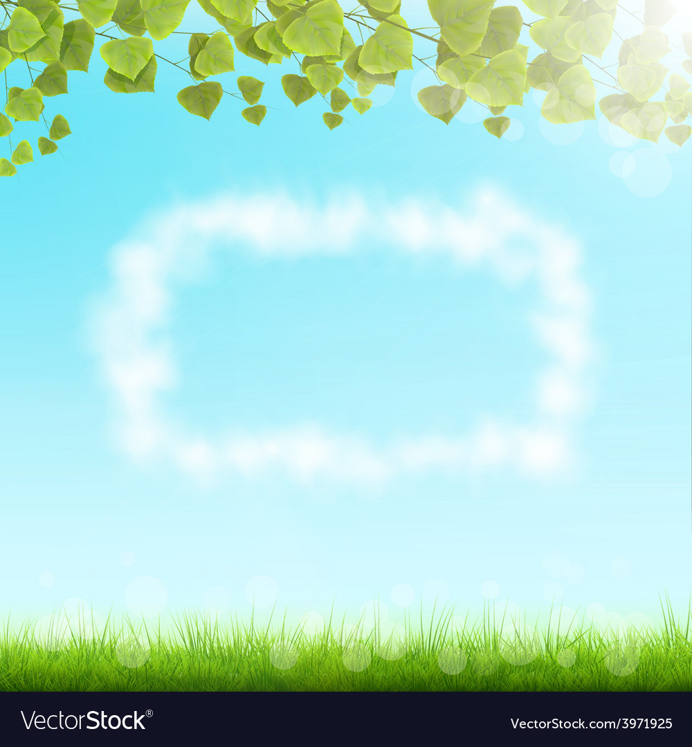 Cloud frame on sky background vector | Price: 1 Credit (USD $1)