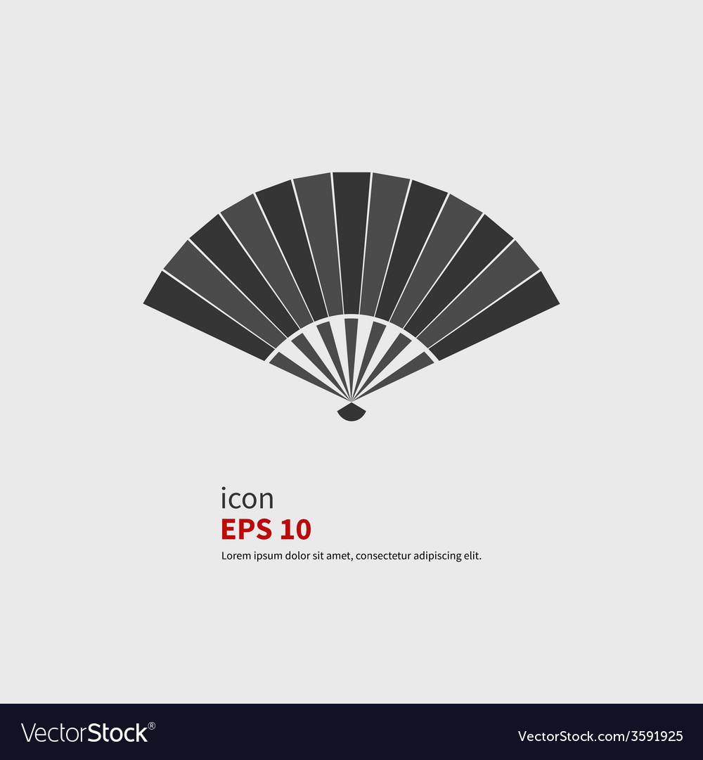 Folding fan icon vector | Price: 1 Credit (USD $1)