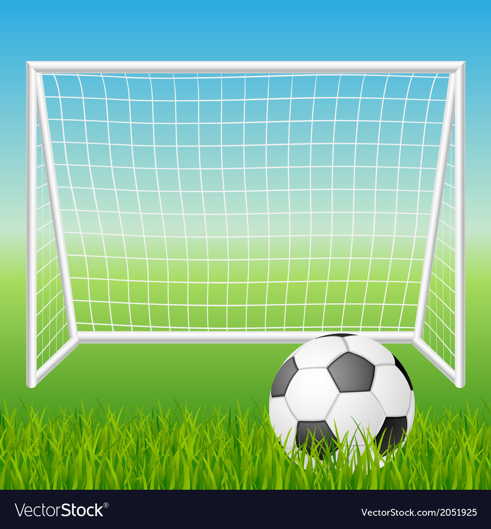 Football goal with ball vector | Price: 1 Credit (USD $1)