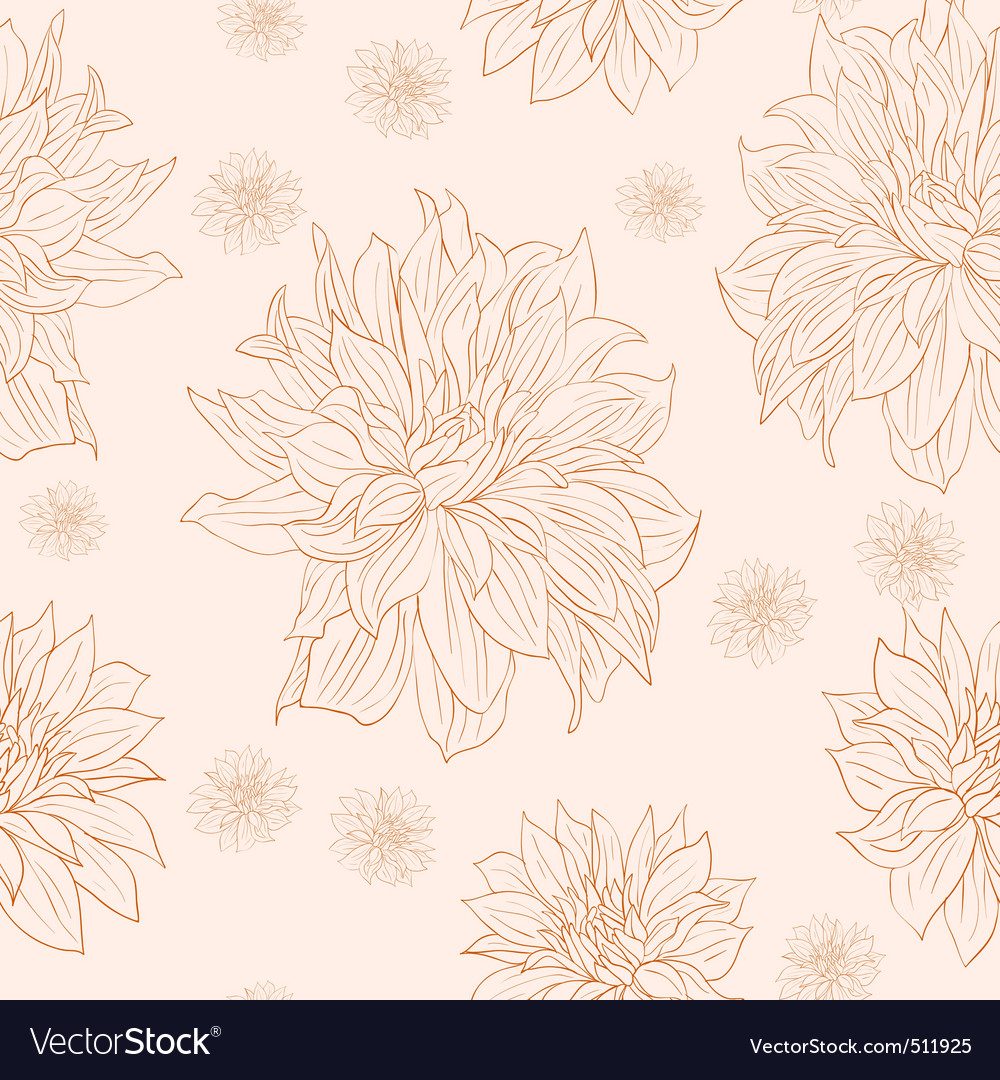 Hand drawn floral wallpaper with set of different vector | Price: 1 Credit (USD $1)