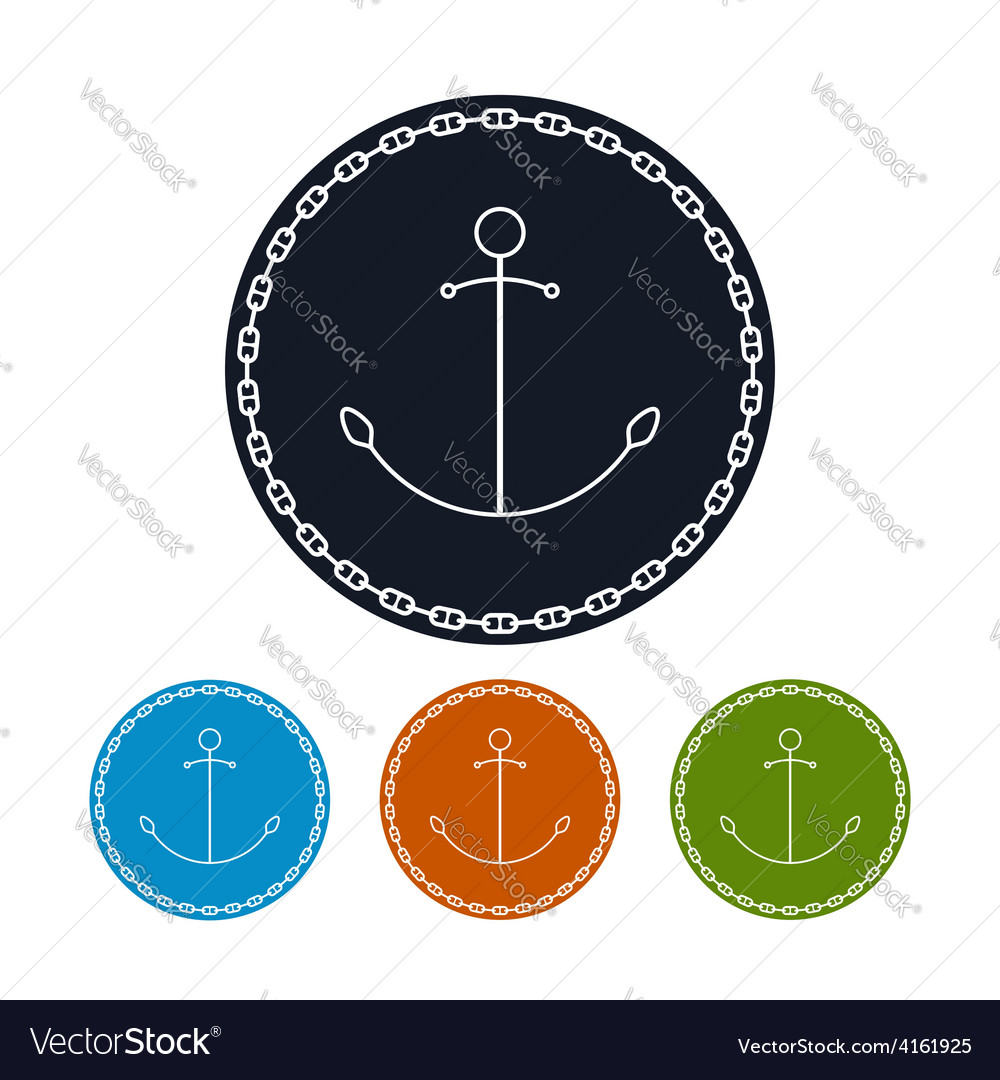Icon anchor and chain vector | Price: 1 Credit (USD $1)