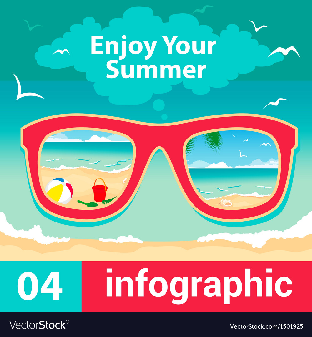 Infographic concept summer vector | Price: 1 Credit (USD $1)