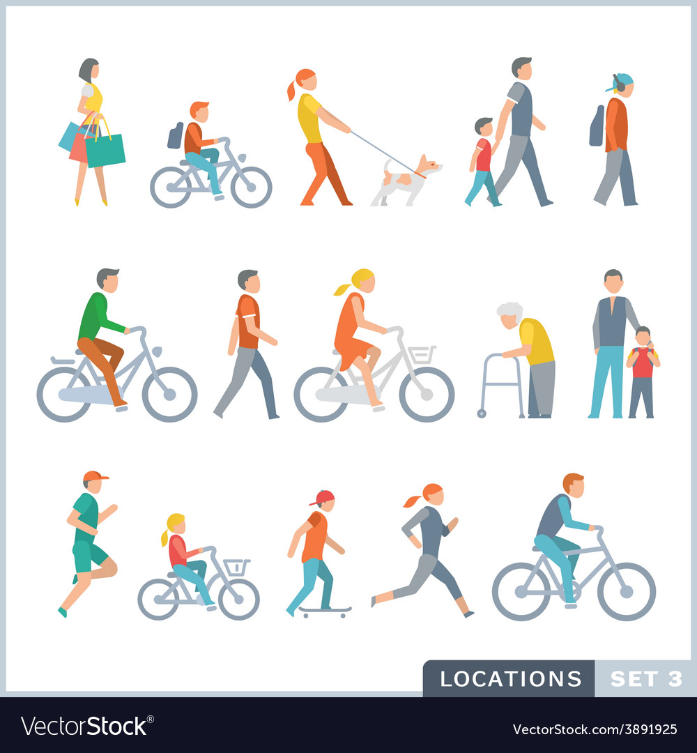 People on the street neighbors vector | Price: 1 Credit (USD $1)