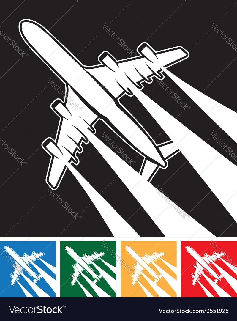 Plane symbol vector | Price: 1 Credit (USD $1)