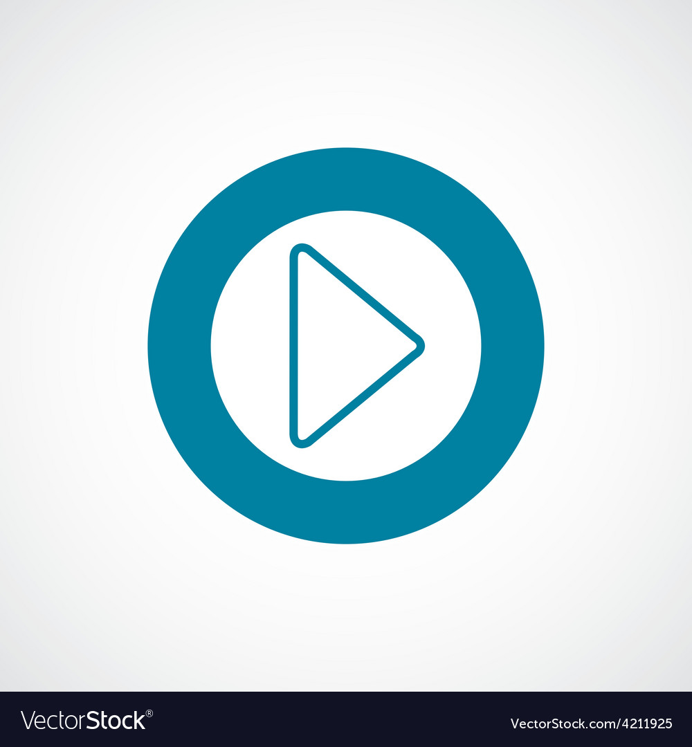 Play icon bold blue circle border vector | Price: 1 Credit (USD $1)