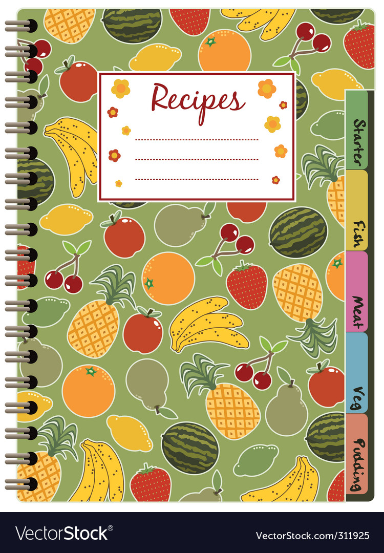 Recipe notebook vector | Price: 1 Credit (USD $1)