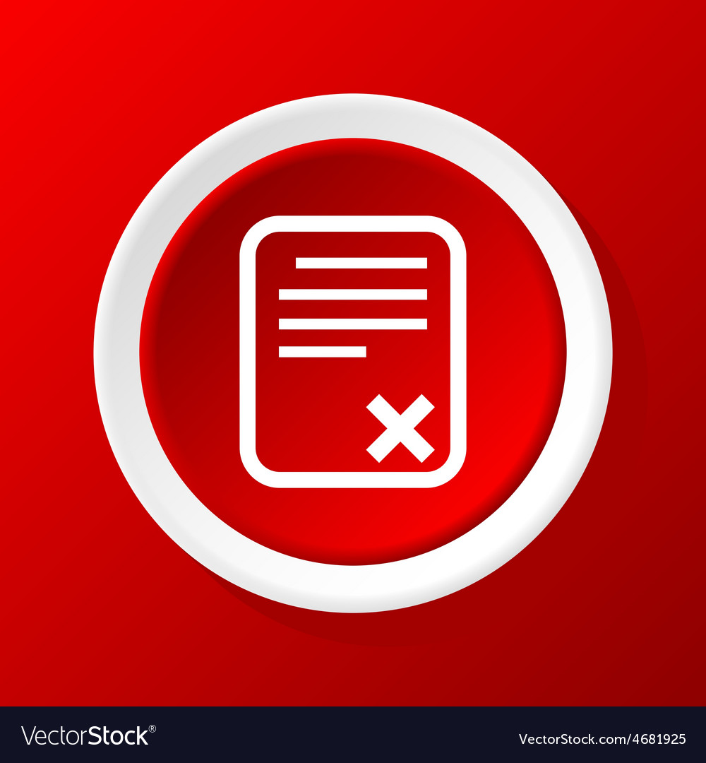 Rejected odcument icon on red vector | Price: 1 Credit (USD $1)