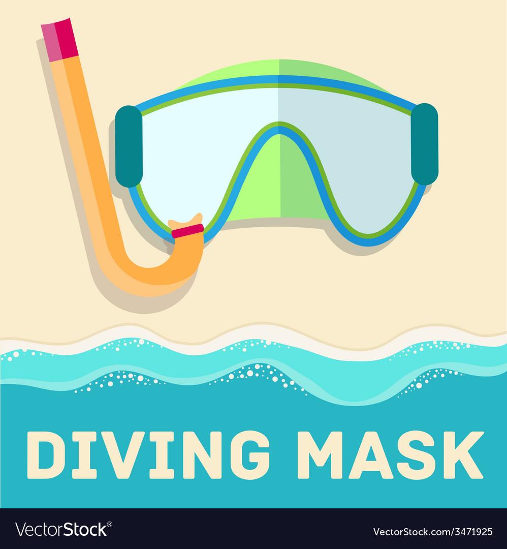 Retro flat diving mask concept design vector | Price: 1 Credit (USD $1)